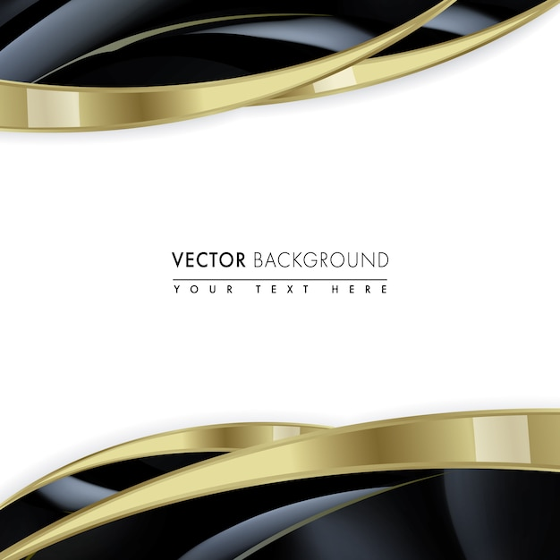 Black And Gold Frame Vector Free Download