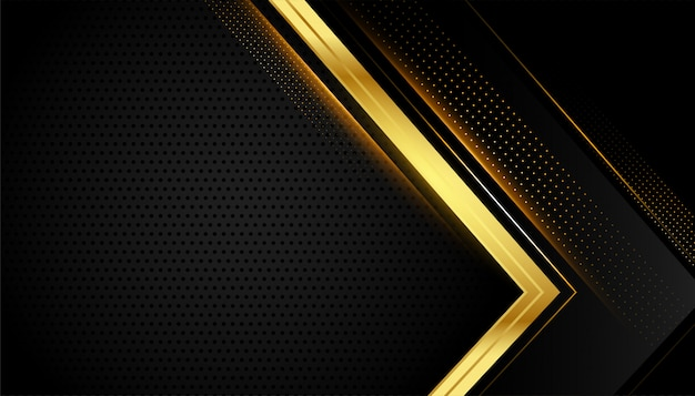 Black and gold geometric background with text space Free Vector