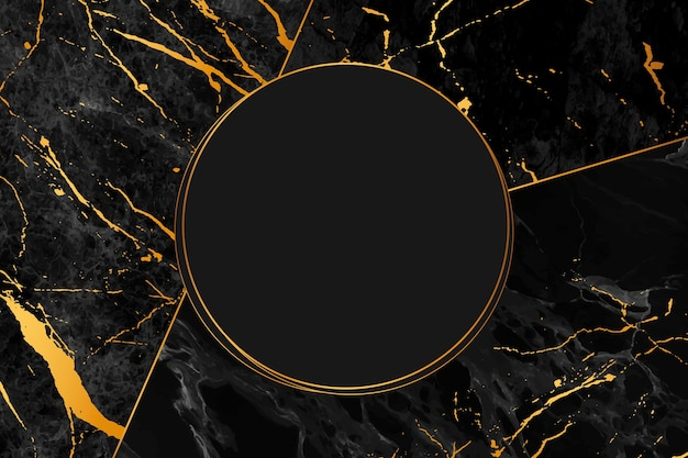 Black and gold marble background style Free Vector