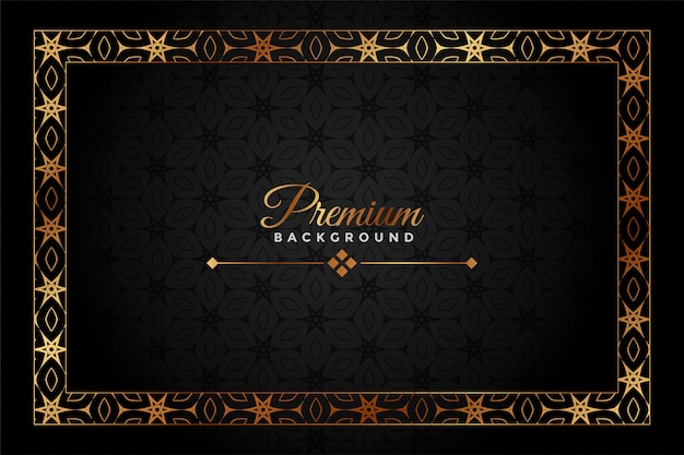 Black and gold premium decorative background Free Vector