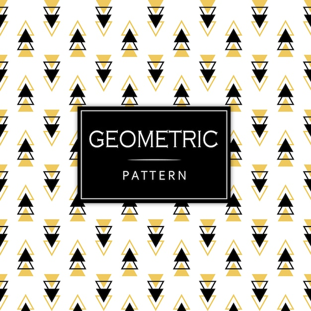 Black and golden memphis geometric pattern Premium Vector