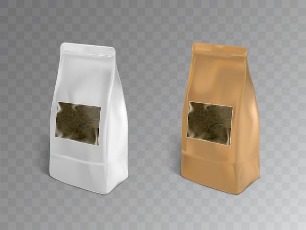 Black, green or herbal tea packaging Free Vector