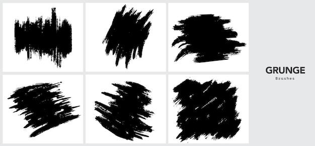 Black grunge brush stroke template Free Vector