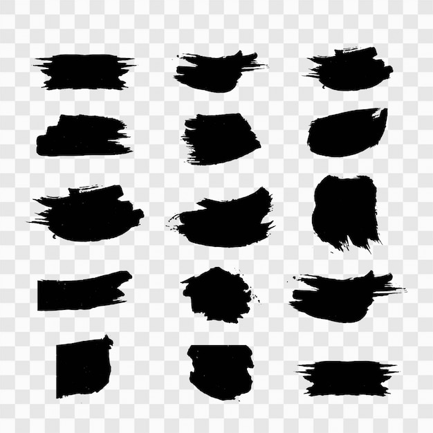 Black grunge set Free Vector