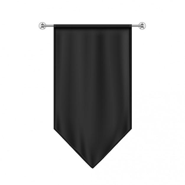 Black hanging flag Premium Vector