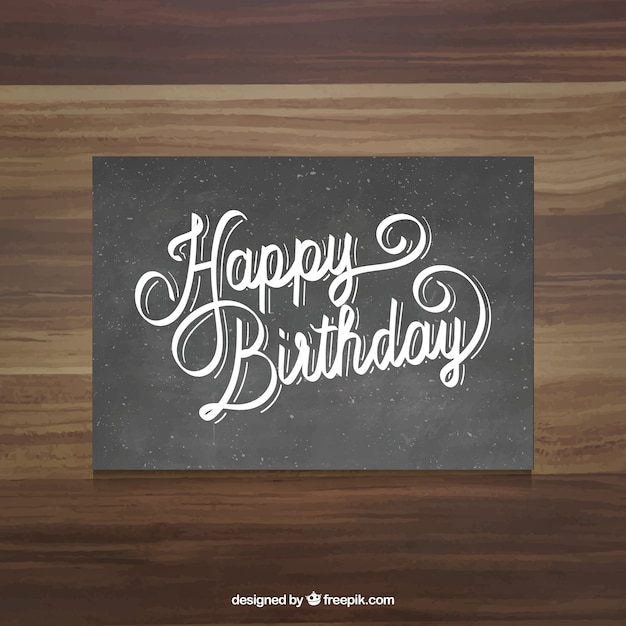 Black happy birthday card vector free download black happy birthday card free vector bookmarktalkfo Images