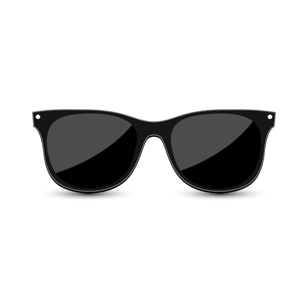 Black hipster sunglasses Premium Vector