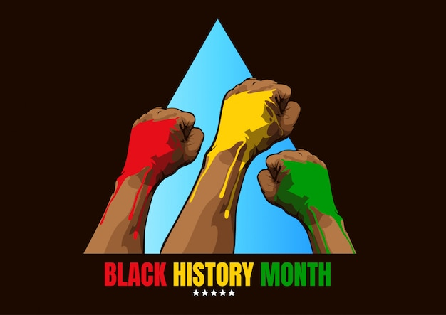 Black History Month Background Premium Vector