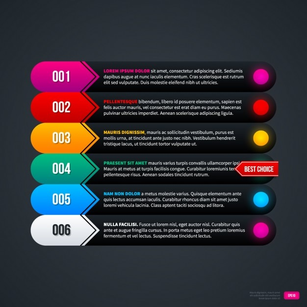 Black infograpic template Free Vector