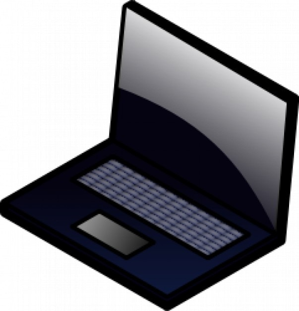 Black laptop cartoon vector Vector Free Download