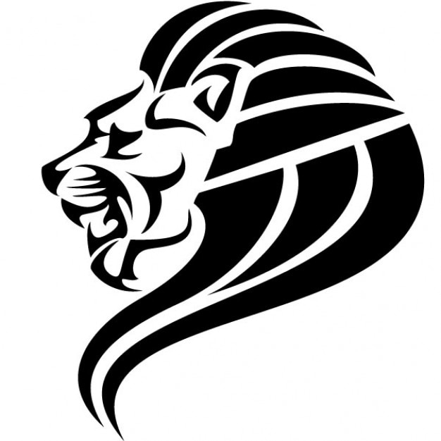 black lion head vector image vector | free download