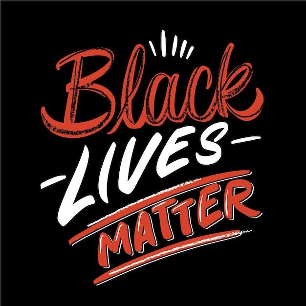 Black lives matter lettering Premium Vector