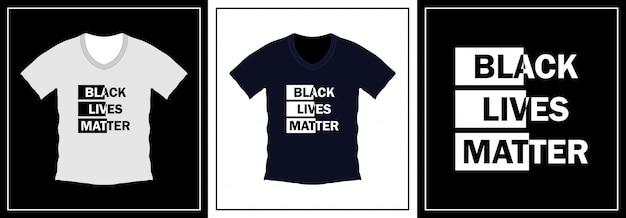 黒の生活はタイポグラフィtシャツデザインを重要です。イラストテンプレート Premiumベクター