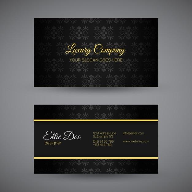 Black luxury business card design vector free download black luxury business card design free vector colourmoves