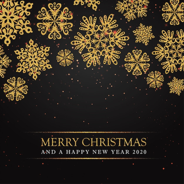 premium vector black merry christmas and happy new year 2020 greeting card https www freepik com profile preagreement getstarted 5992059