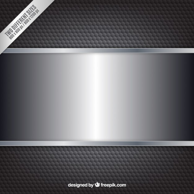Black Metalic Background With Banner Free Vector