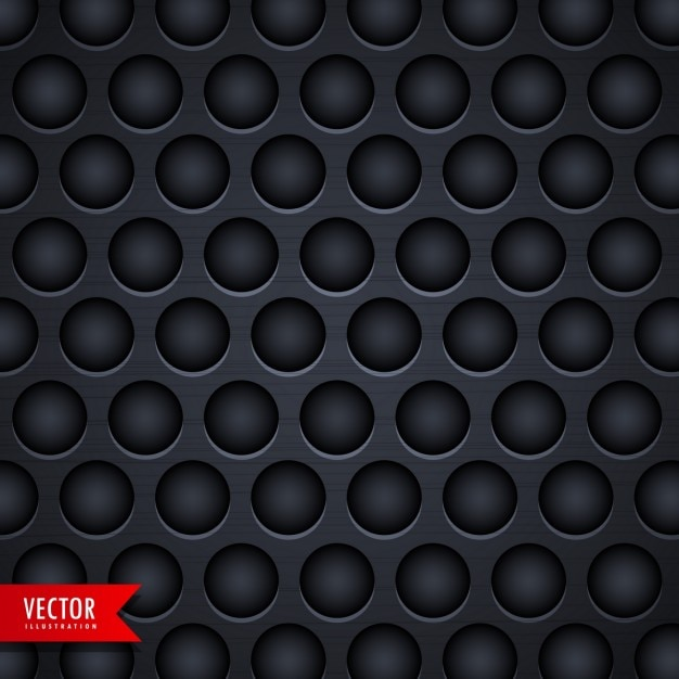 Black metallic texture with holes Free Vector