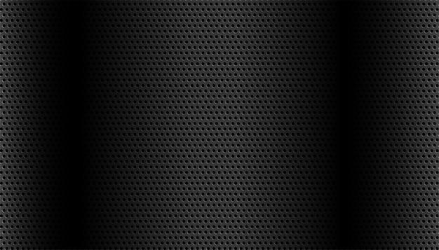 상세한 원형 메쉬가있는 검은 색 금속 무료 벡터