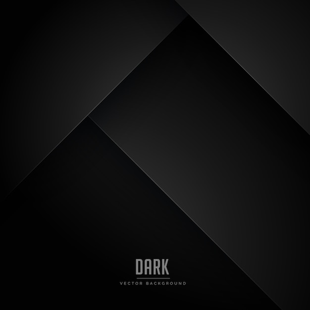 Black minimal background with abstract shapes Free Vector