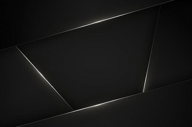 Black modern background. Premium Vector