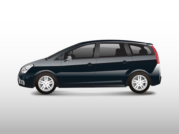 Black mpv minivan automobile vector Free Vector