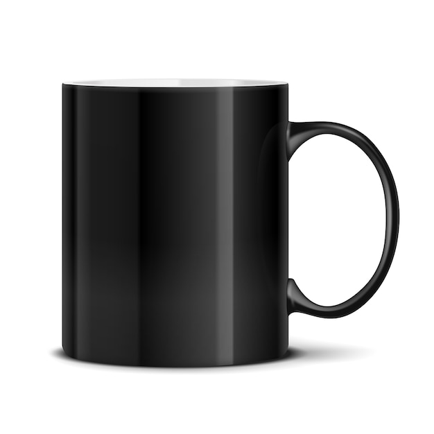 Black mug isolated Free Vector