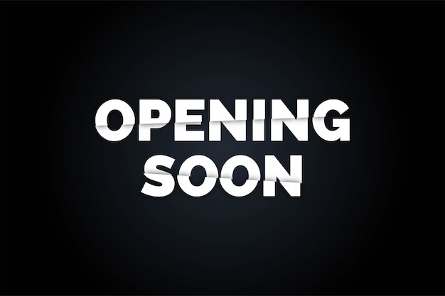 Black opening soon realistic  background, Premium Vector