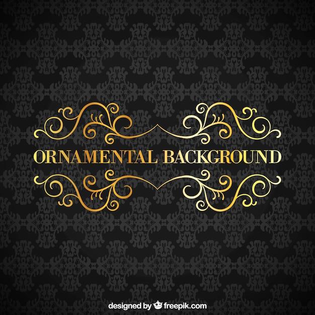 Black ornamental background Free Vector