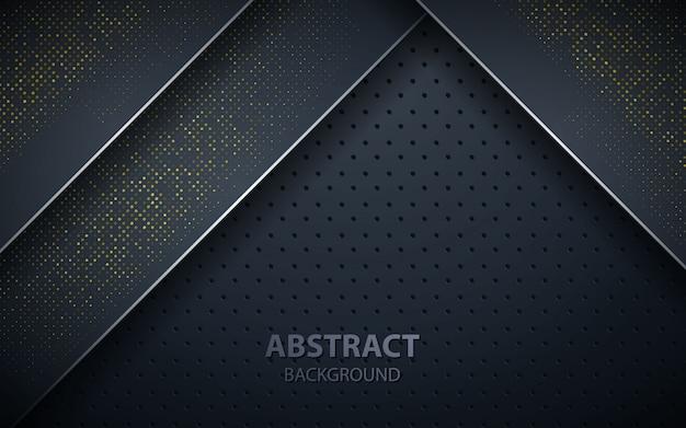 Black overlap layers realistic decoration Premium Vector
