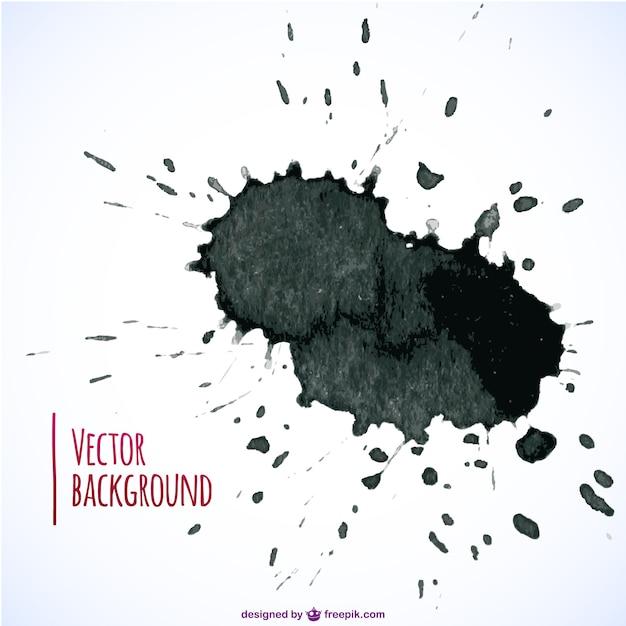 Black paint splashes Free Vector