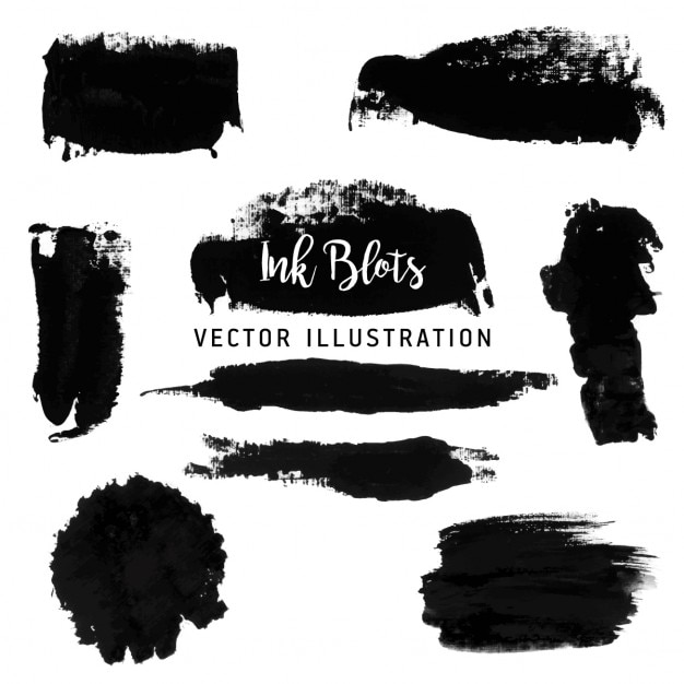 Black paint strokes Free Vector