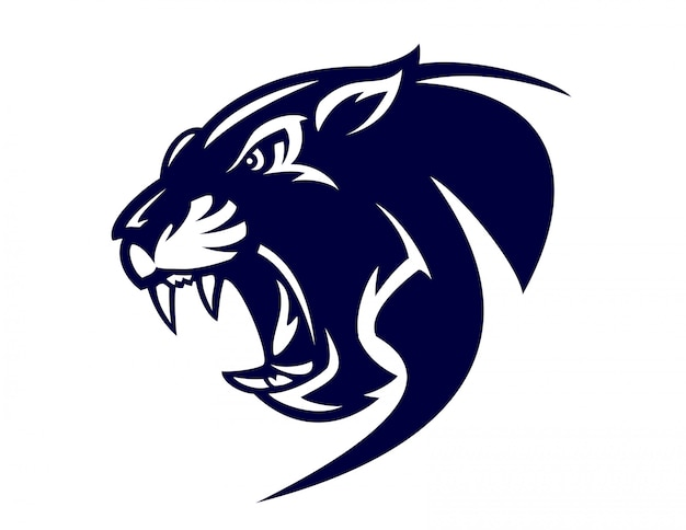 Black panther logo Premium Vector