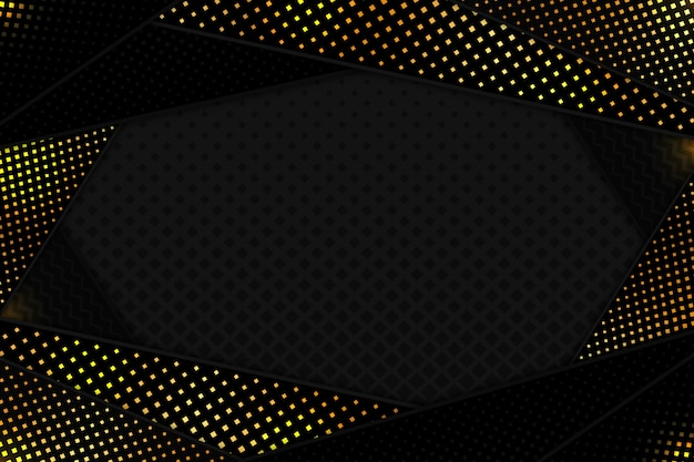 Black paper cut shapes background Free Vector
