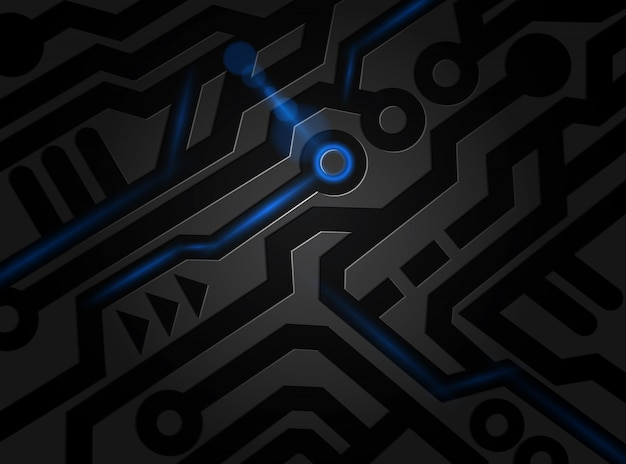 premium vector | black pattern digital abstract technology background.  freepik