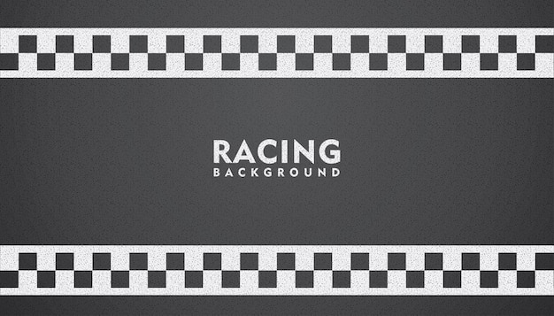 Black racing background, racing square background Premium Vector