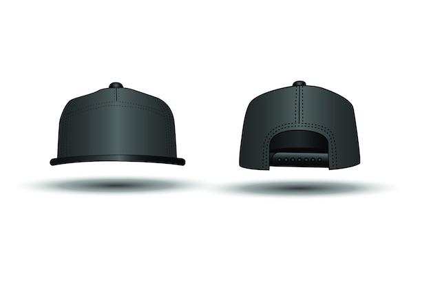 35953f2f6eda3 Black rap cap on white background