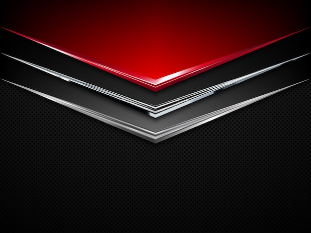 Black and red metal background.  abstract technology background Premium Vector