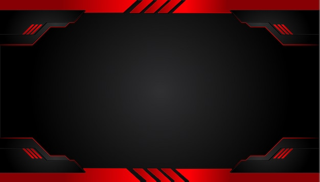 Black and red metal background Premium Vector
