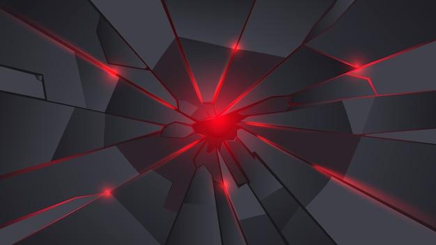 Black and red metal crack background Premium Vector