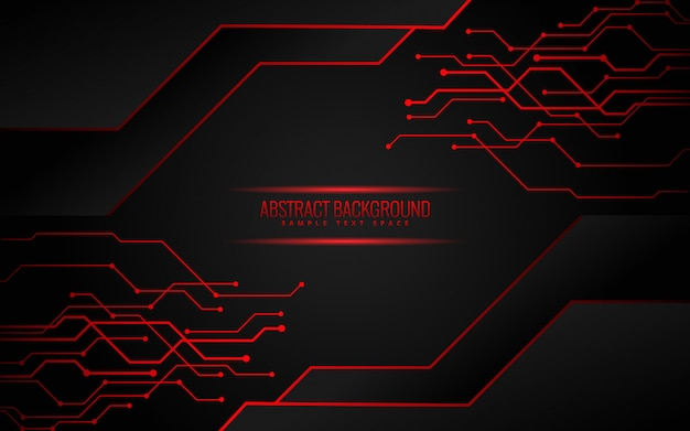 Premium Vector Black And Red Technology Background