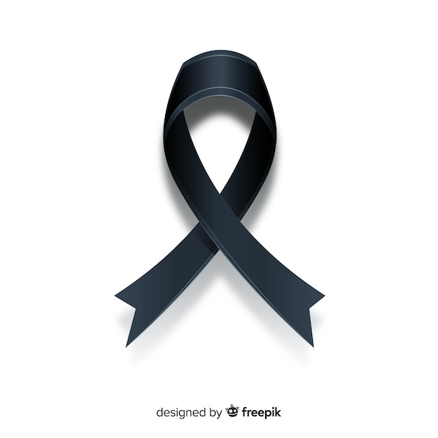 Black ribbon background Free Vector