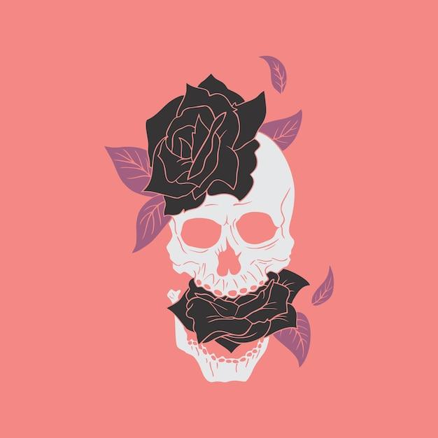 Black rose Premium Vector