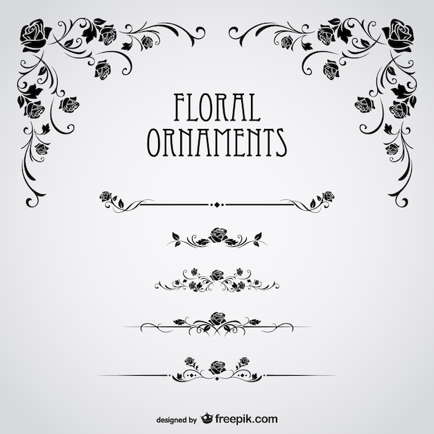 Black roses floral Free Vector