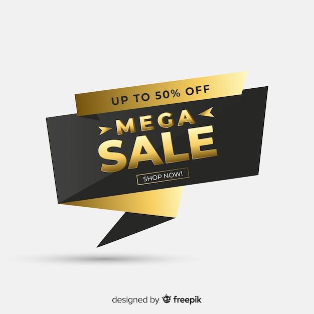 Black sale background with golden details Free Vector