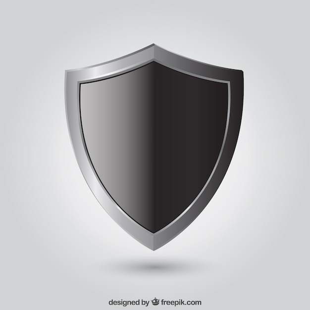 Black shield Vector | Free Download