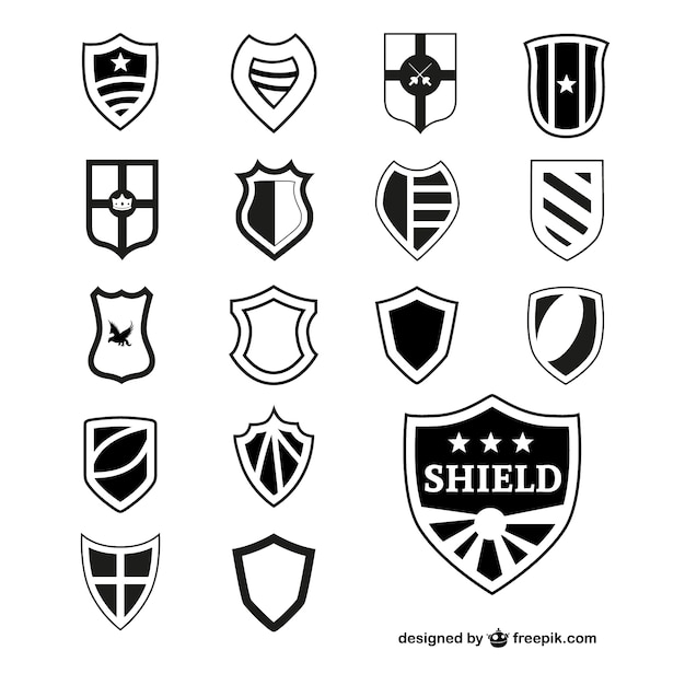 black shields collection vector free download rh freepik com free vector christmas images free vector christmas lights
