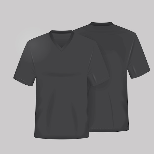 Black shirt template Free Vector