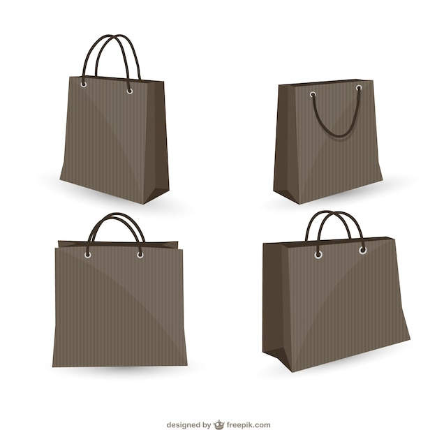 Black shopping bags collection Vector | Free Download