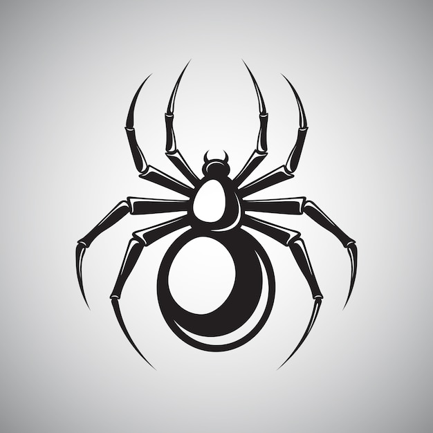 Black spider emblem Free Vector