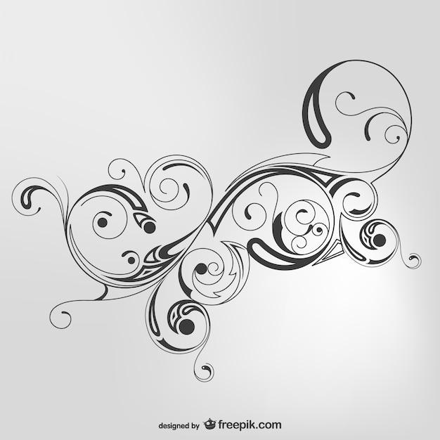 black swirls vector free download. Black Bedroom Furniture Sets. Home Design Ideas